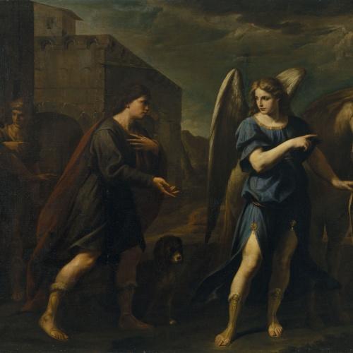 Andrea Vaccaro - Tobies i l'àngel - 1667