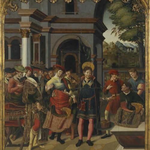 Pere Nunyes - Pesatge de les selles davant del rei Clotari II - 1526-1529