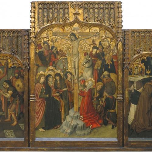 Jaume Huguet - Martiri de sant Bartomeu; Calvari; Mort de Santa Maria Magdalena - 1465-1480