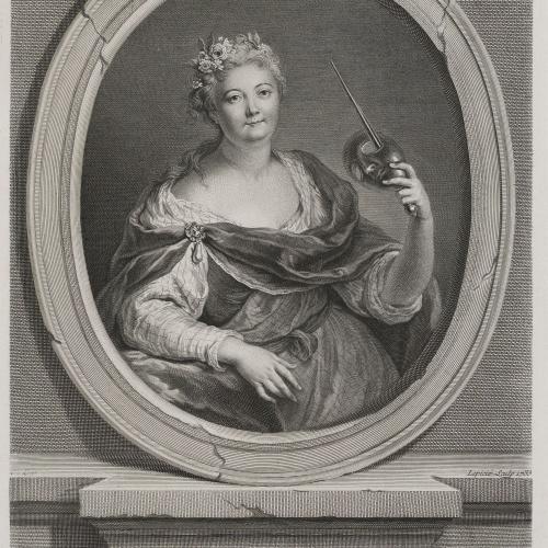 François Bernard Lepicié - Portrait of Charlote Desmares - 1733