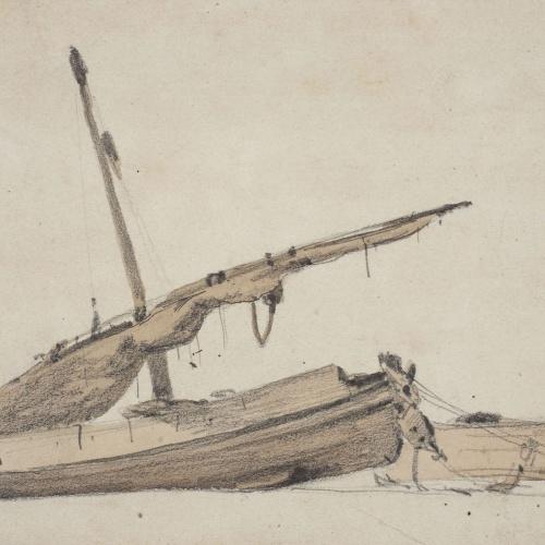 Modest Urgell - Barques a la platja - Cap a 1864-1880