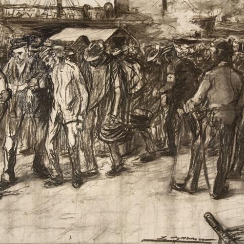 Lluís Graner - Desembarcament de soldats procedents de Cuba - Cap a 1898