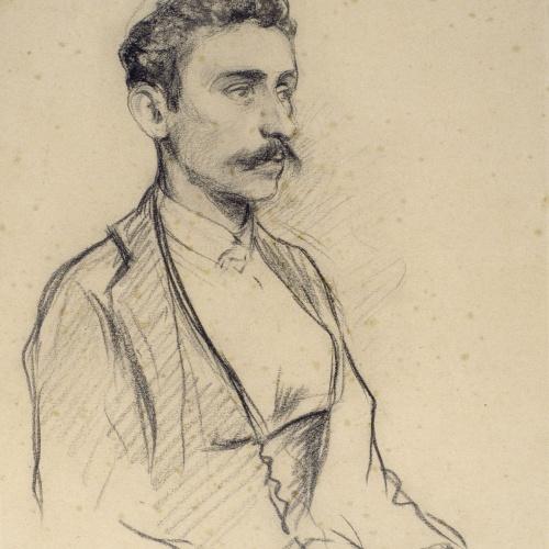 Santiago Rusiñol - Portrait of Salvador Robert - Circa 1895-1897