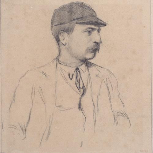 Santiago Rusiñol - Portrait of Genís Muntaner - Circa 1895-1897