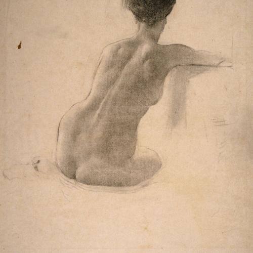 Josep Llimona - Nu femení - Cap a 1907