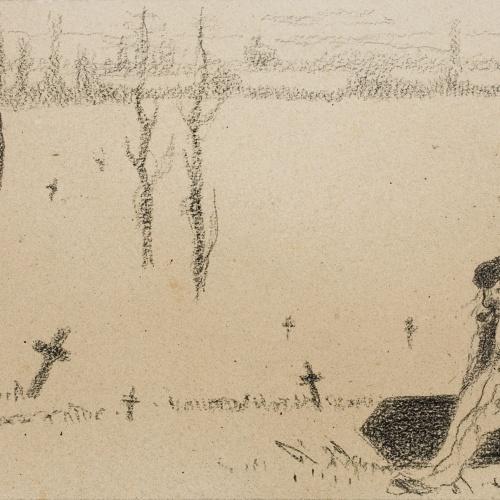 Isidre Nonell - Gravedigger - Circa 1895