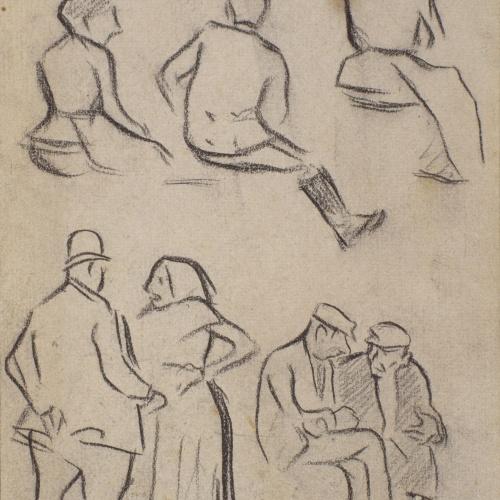 Isidre Nonell - Apunt de figures - Cap a 1892-1894