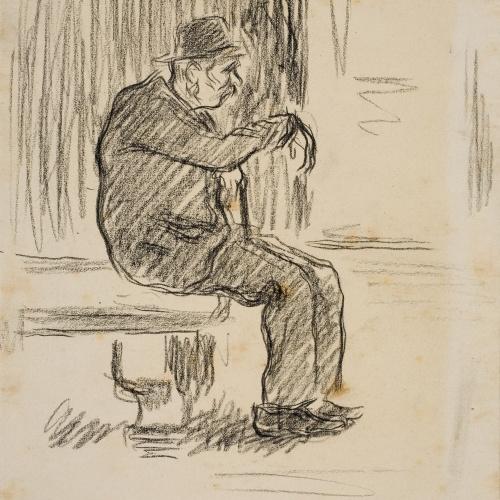 Isidre Nonell - Hombre sentado - Hacia 1894