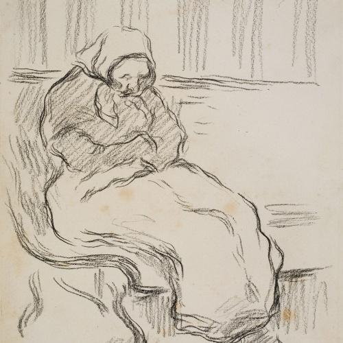 Isidre Nonell - Dona adormida - Cap a 1890-1896