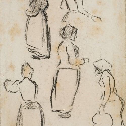 Isidre Nonell - Apunt de dones - Cap a 1892-1894