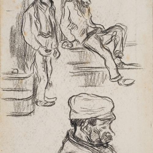 Isidre Nonell - Apunte de mendigos - Hacia 1890-1900