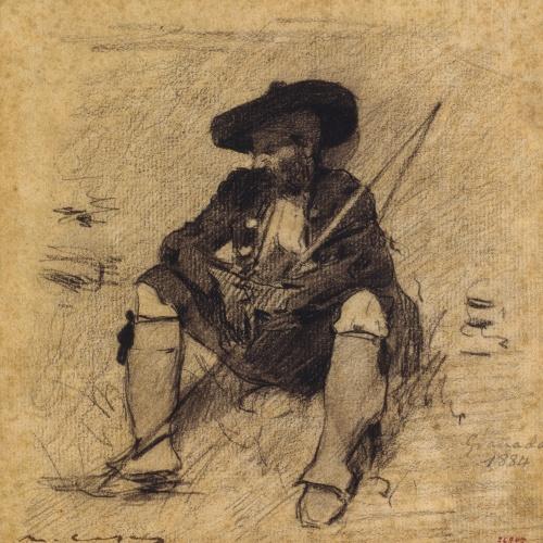 Ramon Casas - Gypsy from Granada - 1884