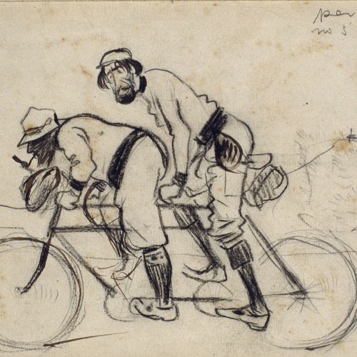 Ramon Casas - Study for the picture 'Ramon Casas and Pere Romeu on a Tandem' - Circa 1897