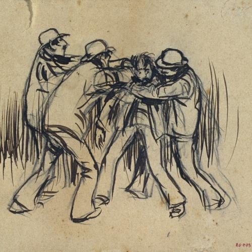Ramon Casas - Fight - 1892