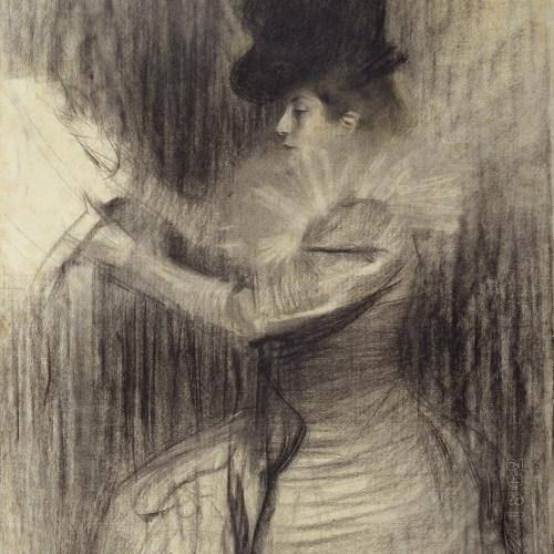 Ramon Casas - Figura femenina - Cap a 1900