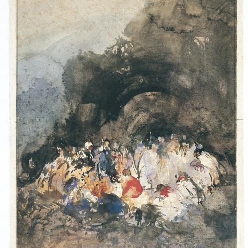 Eugenio Lucas Velázquez - Grup de figures - Cap a 1860