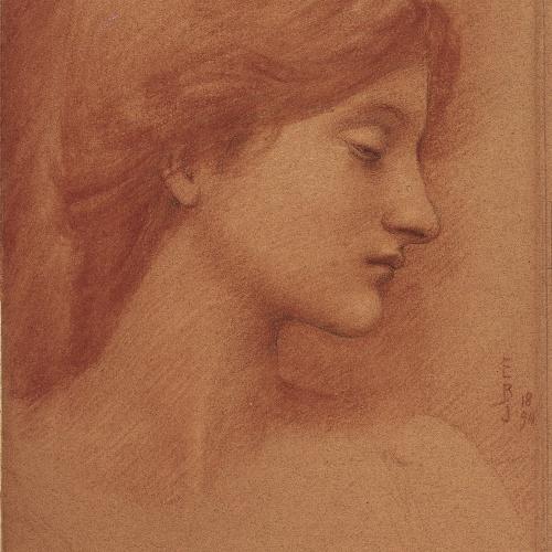 Edward Burne-Jones - Estudi de cap femení - 1894