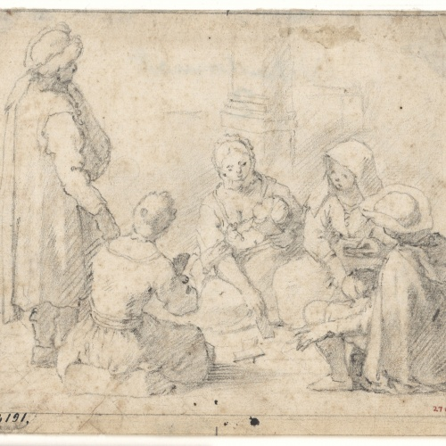 Antoni Viladomat - Jugadors de naips - Cap a 1720-1755