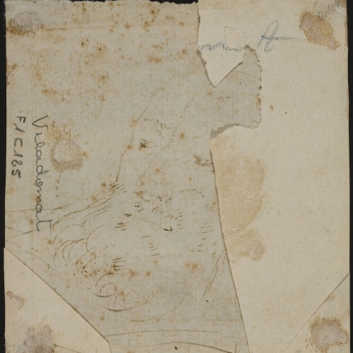 Antoni Viladomat - Preliminary drawing of the head of a monk - Circa 1720-1730