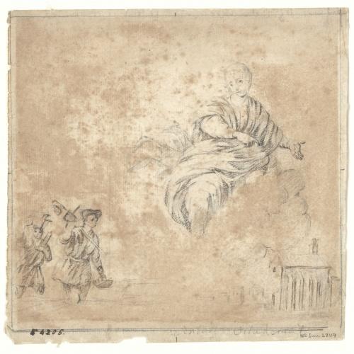 Antoni Viladomat - Virgin and other sketches - Circa 1720-1755