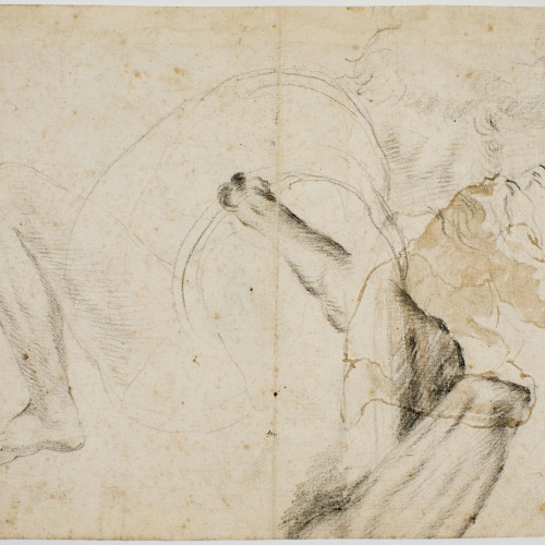 Antoni Viladomat - Preliminary drawing of figures - Circa 1720-1740