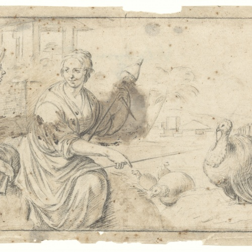 Antoni Viladomat - Study for the picture 'The Shepherd and the Spinner Woman' - Circa 1730-1735