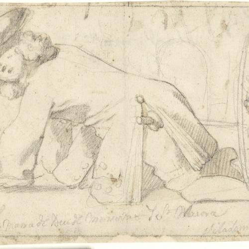 Antoni Viladomat - Study for ex-voto - Circa 1720-1755