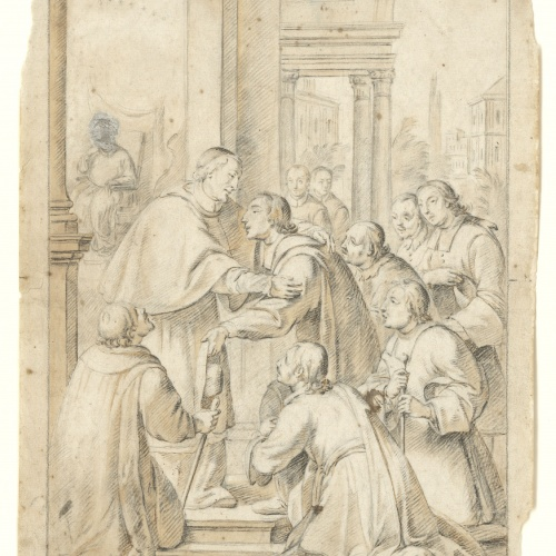 Antoni Viladomat - Study for the picture 'Saint Bruno Meets Bishop Hugh of Cologne' from the Carthusian monastery of Montalegre in Tiana - Circa 1730