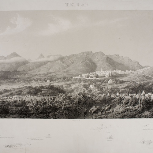 José Vallejo - Tetuan (Atlas histórico y topográfico de la guerra de África, 8) - 1860