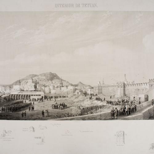 José Vallejo - Interior de Tetuan (Atlas histórico y topográfico de la guerra de África, 9) - 1860