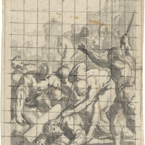 Antoni Viladomat - Study for the picture 'Jesus Falls for the Third Time (ninth station of the Via Crucis)' from the chapel of Els Dolors in the basilica of Santa Maria de Mataró - Circa 1727-1729