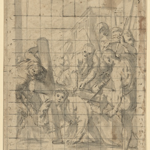Antoni Viladomat - Study for the picture 'Jesus Falls for the First Time (third station of the Via Crucis)' from the chapel of Els Dolors in the basilica of Santa Maria de Mataró - Circa 1727-1729