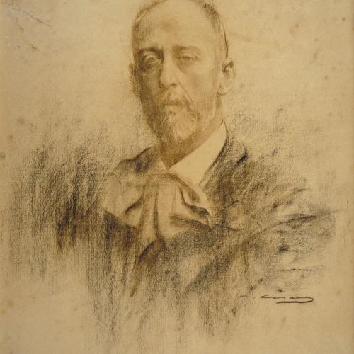 Ramon Casas - Retrato de Francesc Soler i Rovirosa - Posterior a 1900