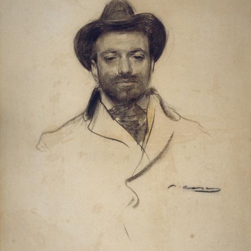 Ramon Casas - Retrato de Josep Maria Sert - Hacia 1904