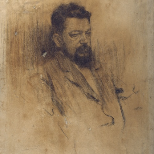 Ramon Casas - Retrato de Joaquim Sorolla - 1904