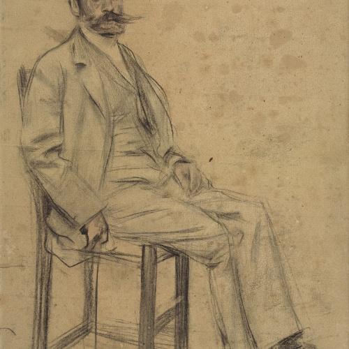Ramon Casas - Retrato de Francesc Masriera - Hacia 1897-1899