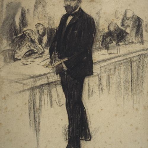 Ramon Casas - Retrato de Agustí Querol - 1900