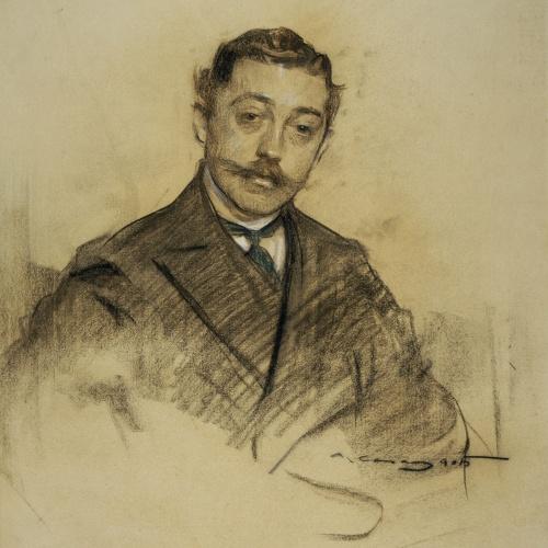 Ramon Casas - Portrait of Fernando Álvarez de Sotomayor - 1905
