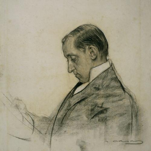Ramon Casas - Retrato de Miquel Utrillo - Hacia 1906-1907