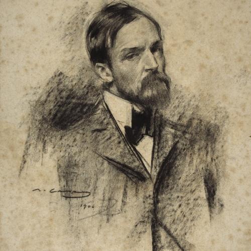 Ramon Casas - Retrato de Lucien Simon - 1900