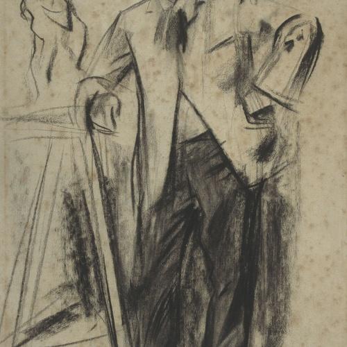 Ramon Casas - Portrait of Antonin Mercié - Circa 1900