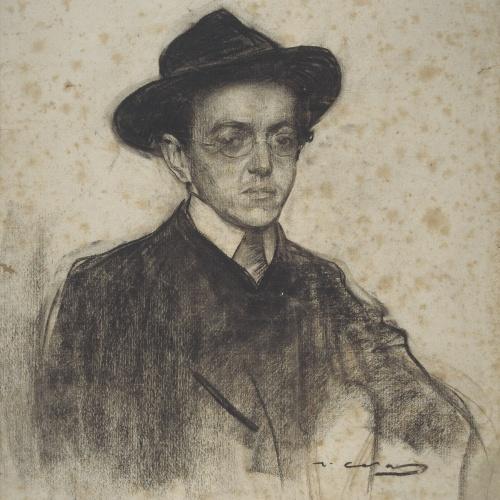 Ramon Casas - Portrait of Rafael Martínez Padilla - Circa 1904-1908
