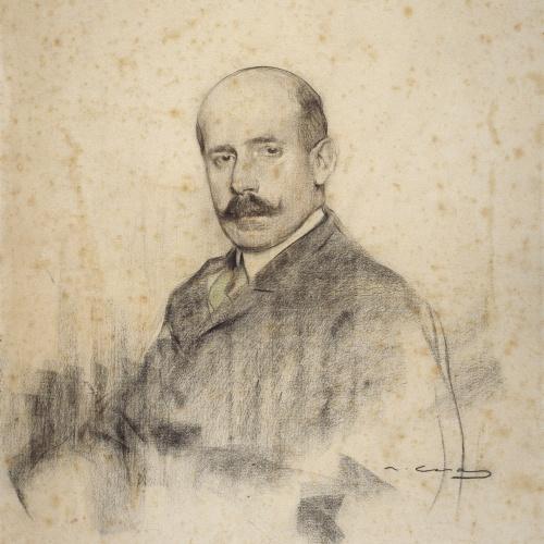 Ramon Casas - Retrat d'Ignacio Zuloaga - Cap a 1905
