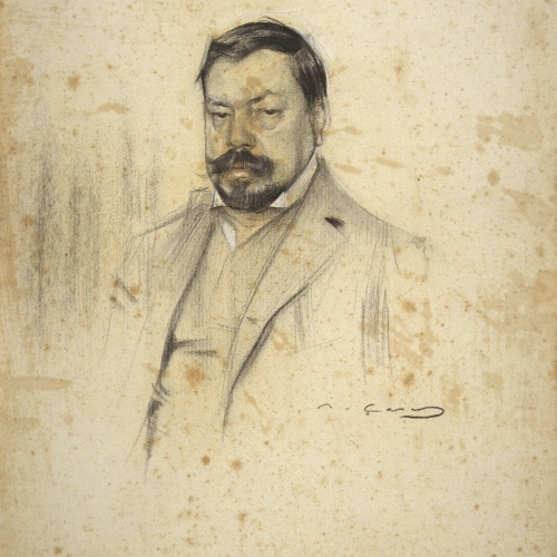 Ramon Casas - Retrato de Enric Serra - Hacia 1903