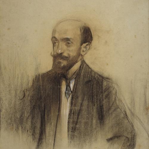 Ramon Casas - Retrato de Vicente Lampérez y Romea - 1904