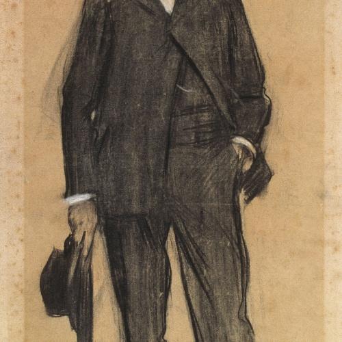 Ramon Casas - Retrato de Frederic Masriera - Hacia 1897-1899