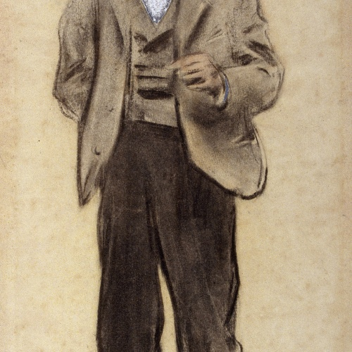 Ramon Casas - Portrait of Manolo Hugué - Circa 1897-1899