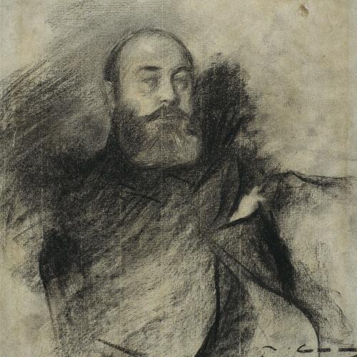 Ramon Casas - Retrato de Paul Albert Besnard - Hacia 1900
