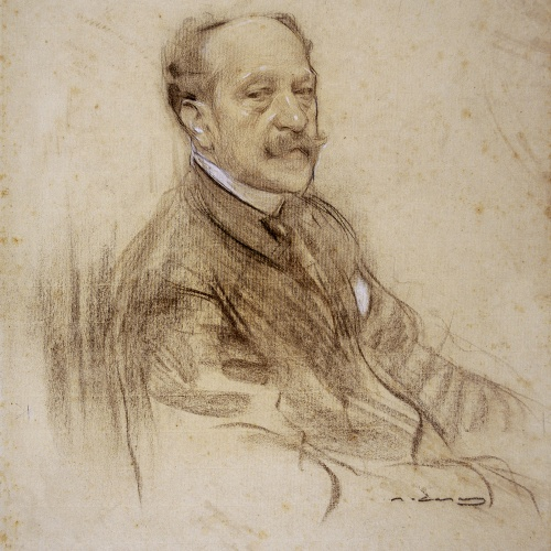 Ramon Casas - Portrait of José Villegas - 1904