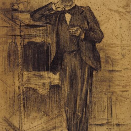 Ramon Casas - Retrato de Apel·les Mestres - Hacia 1897-1899